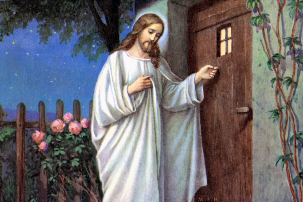 Behold, I stand at the door and knock: if any man hear my voice and open the door, I will come in to him, and will sup with him, and he with me. Revelation 3:20